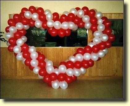 kalp balon süslemesi